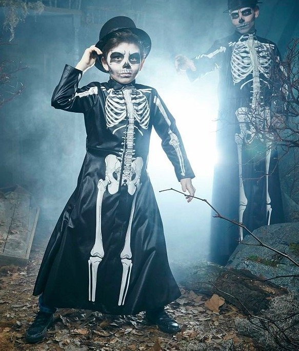 Matching Father Son X-Ray Coat Costumes