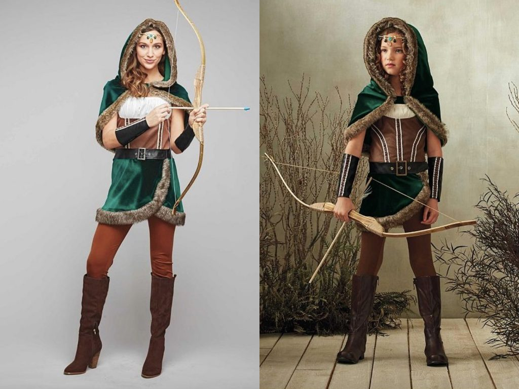 Mother Daughter Matching Archer Costumes