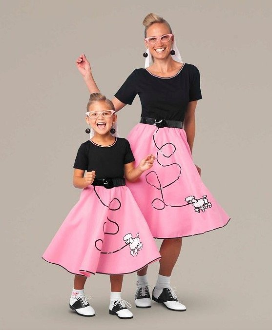 Mother Daughter Matching Fab '50s Poodle Skirt Costumes