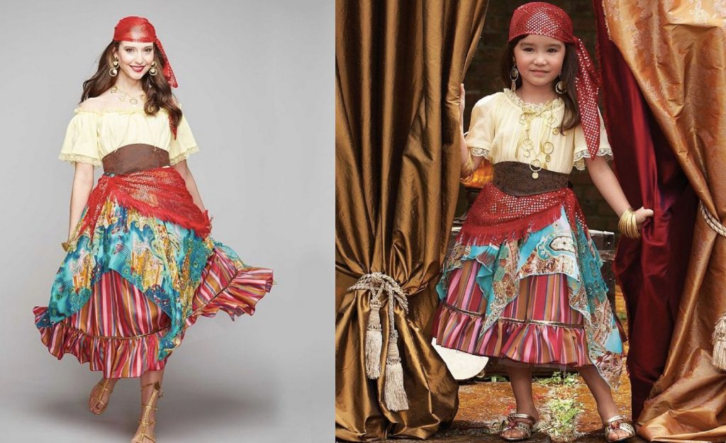 Mother Daughter Matching Fortune Teller Costumes