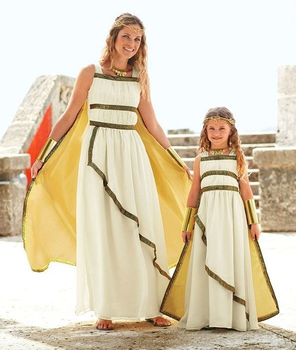Mother Daughter Matching Greek Goddess Costumes