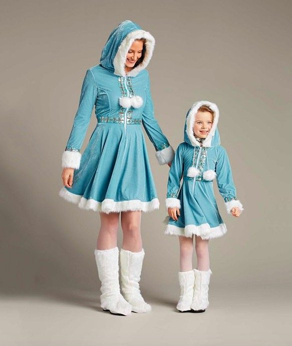 Mother Daughter Matching Winter Wonderland Outfits