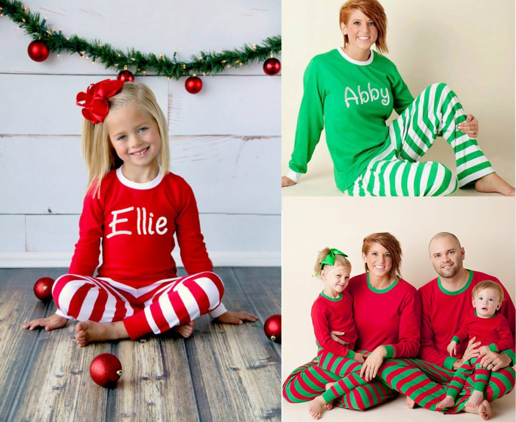 Family Matching Christmas Monogrammed Pajama Sets. Personalized Christmas  Pajamas ee972bd2e