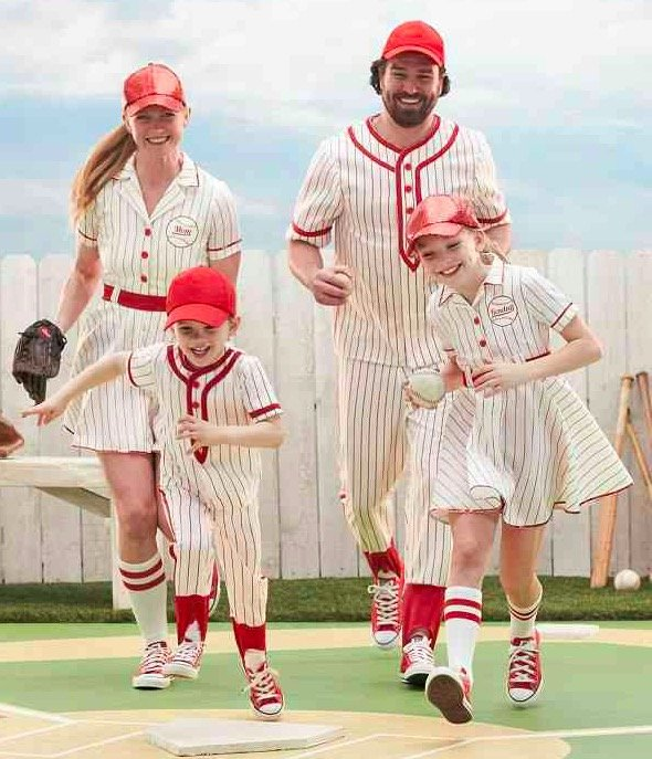 Personalized Retro Baseball Player Family Costumes