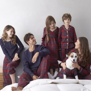 Family Matching Holiday Pajamas – Chalet Plaid