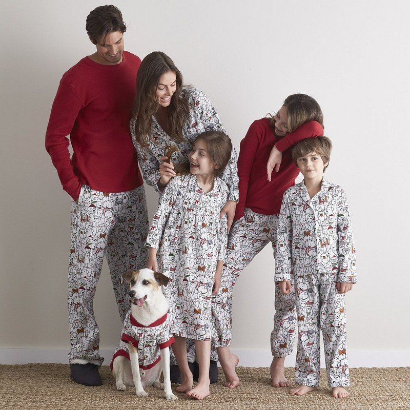 Family Matching Holiday Pajamas – Merry Mutts