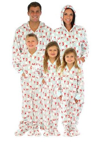 Family Matching Holiday Polar Bear Fleece Onesies