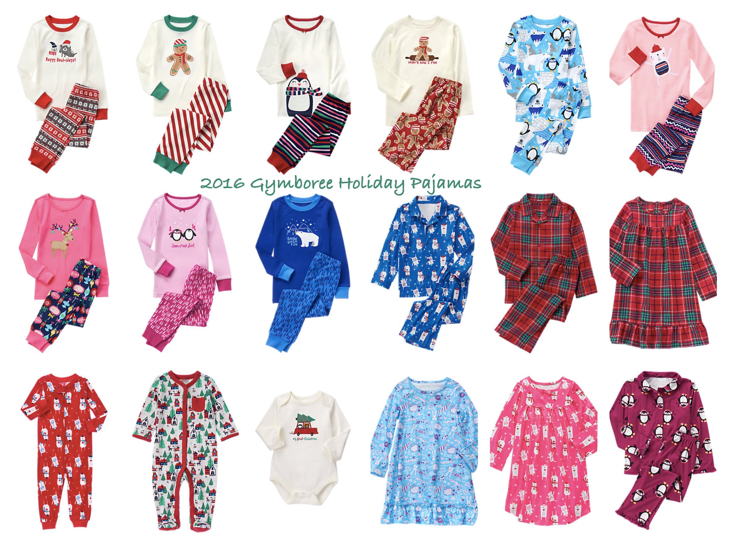 2016 Gymboree Holiday Pajamas
