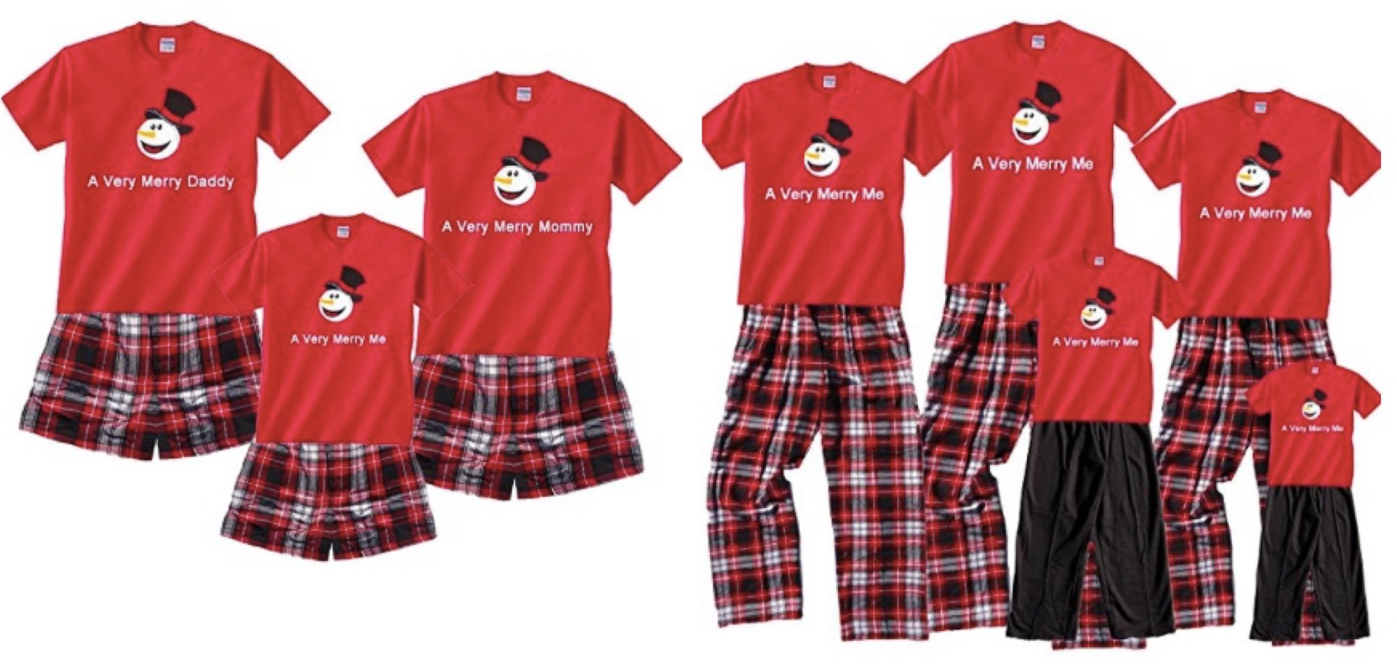 A Very Merry Me Christmas Snowman Short Sleeve Clothing Set;