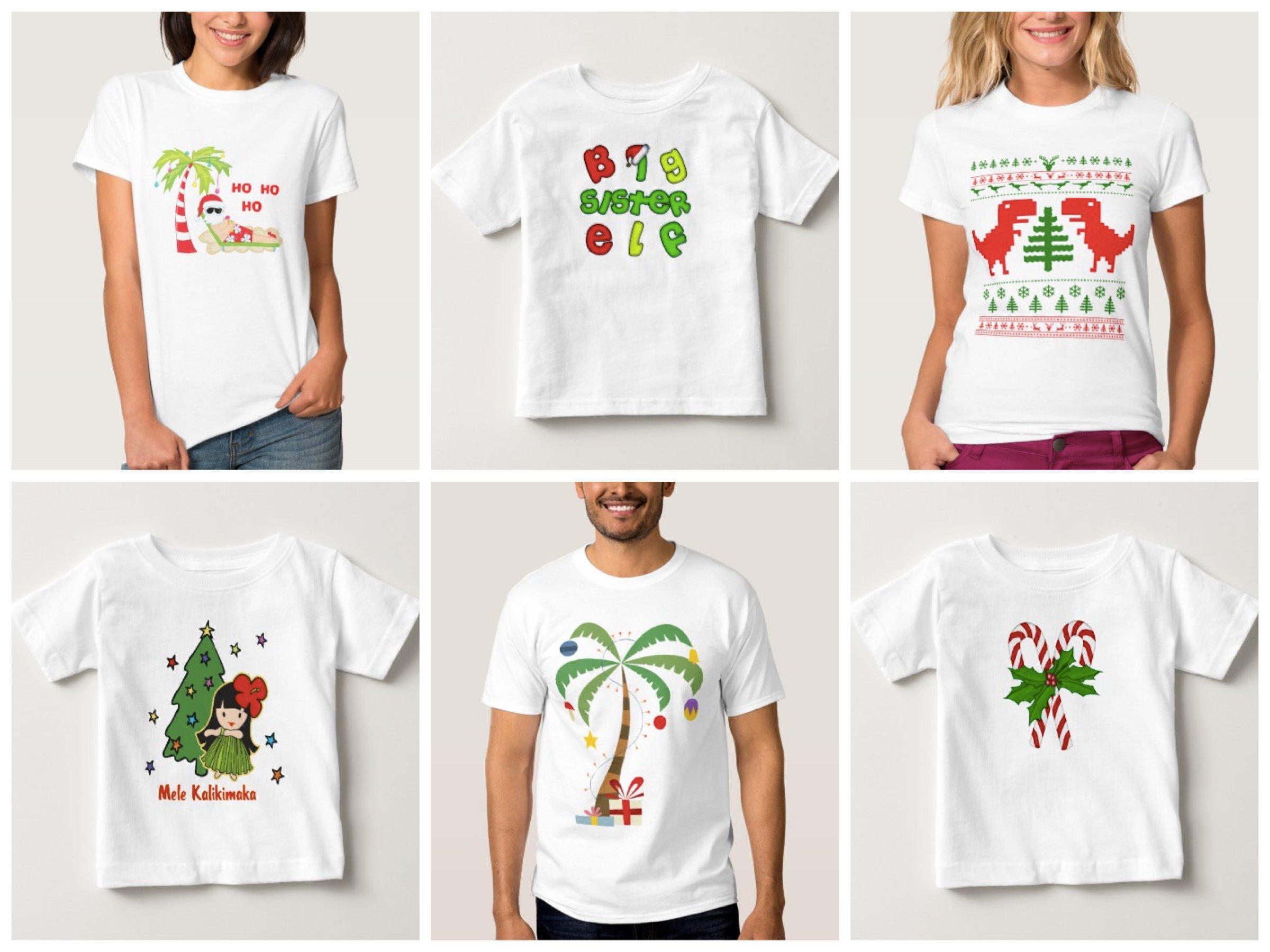 Christmas TeeShirts, Summer Christmas Matching Family Pajamas