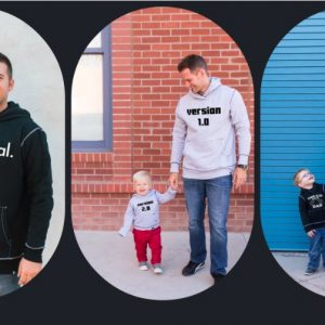 Daddy & Me Matching Graphic Hoodies