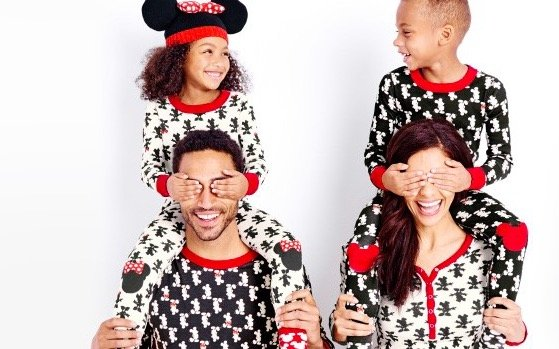 Disney Mickey & Minnie Mouse Organic Cotton Matching Family Holiday Pajamas