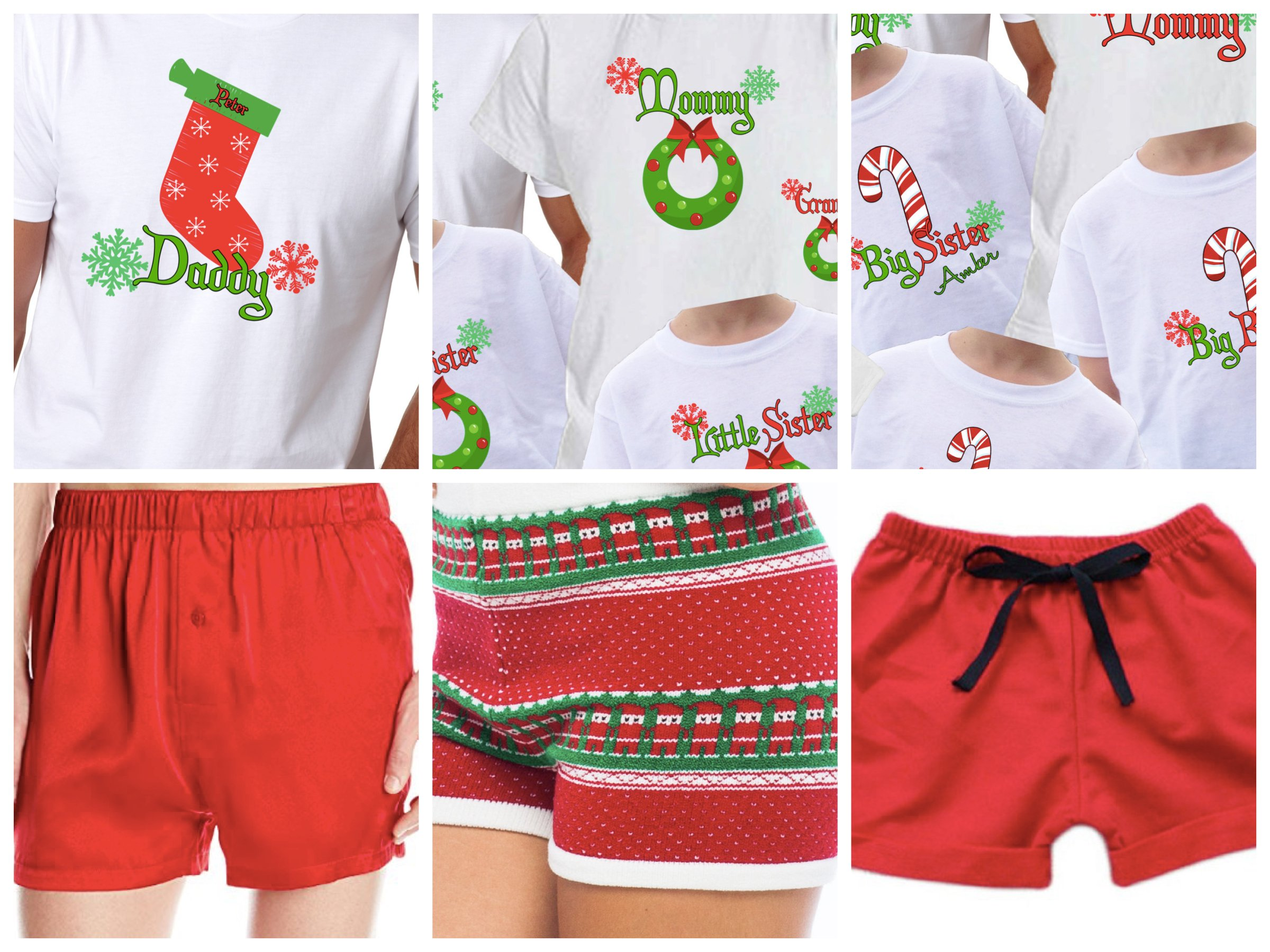 Family Matching Christmas T-Shirts and Shorts