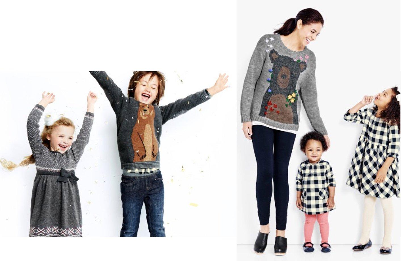 Matching Family Holiday Sweaters Bear Hugs
