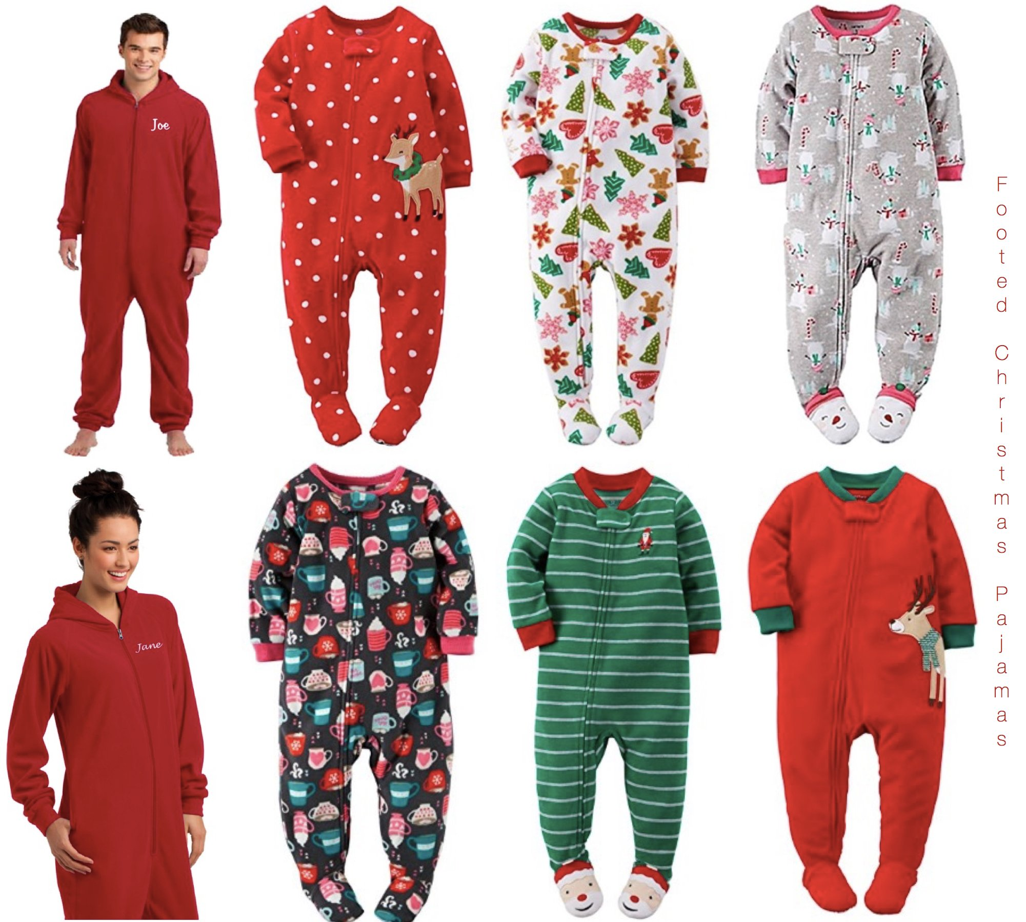 Footed Christmas Pajamas