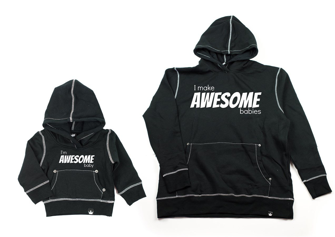 Matching Daddy & Me Graphic Awesome Hoodies