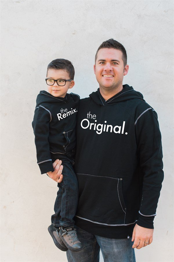 Matching Daddy & Me Graphic Hoodies The Original & The Remix