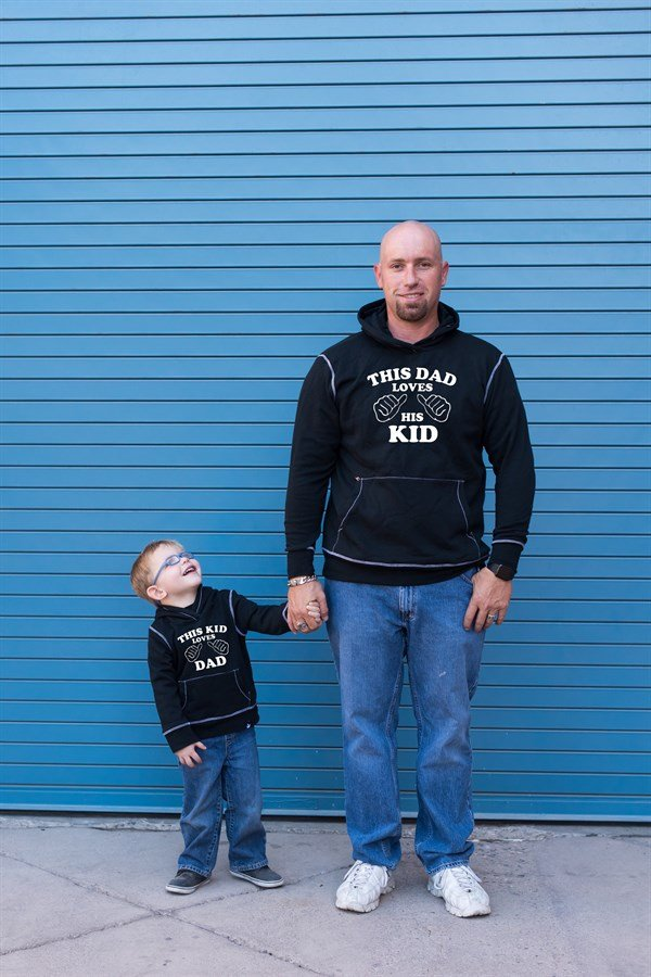 Matching Daddy & Me Graphic Love Hoodies