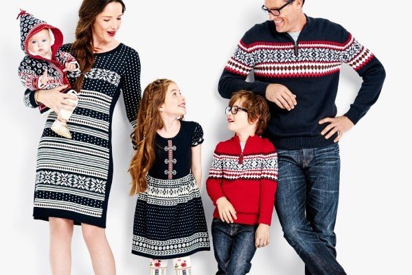 Matching Family Holiday Sweaters SnoHappy