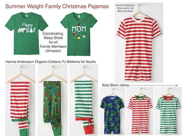 Summer Weight Family Christmas Pajamas