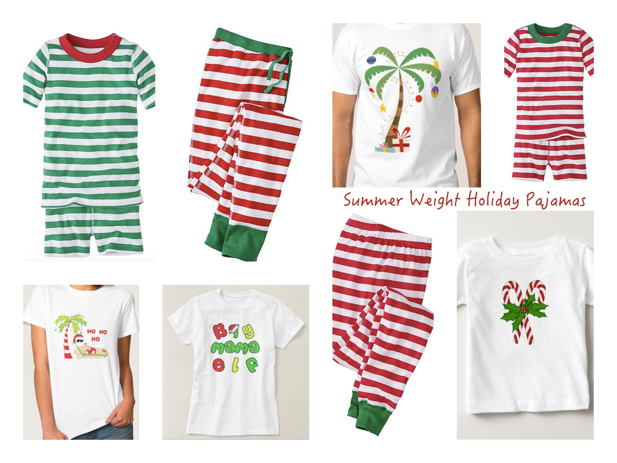 Light Weight Summer Christmas Pajamas