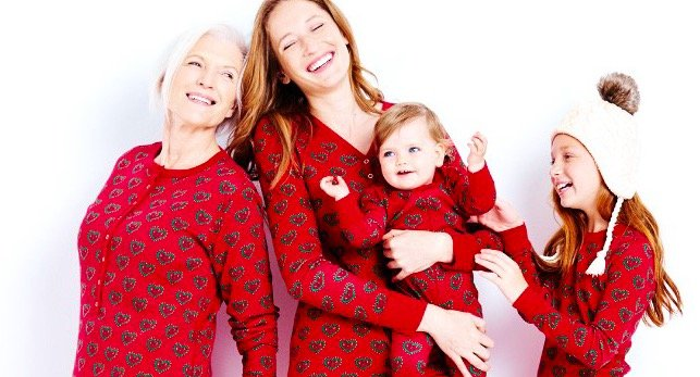 Swedish Heart Organic Cotton Matching Family Holiday Pajamas