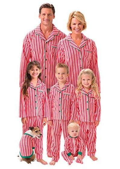 Candy Cane Fleece Matching Family Pajamas