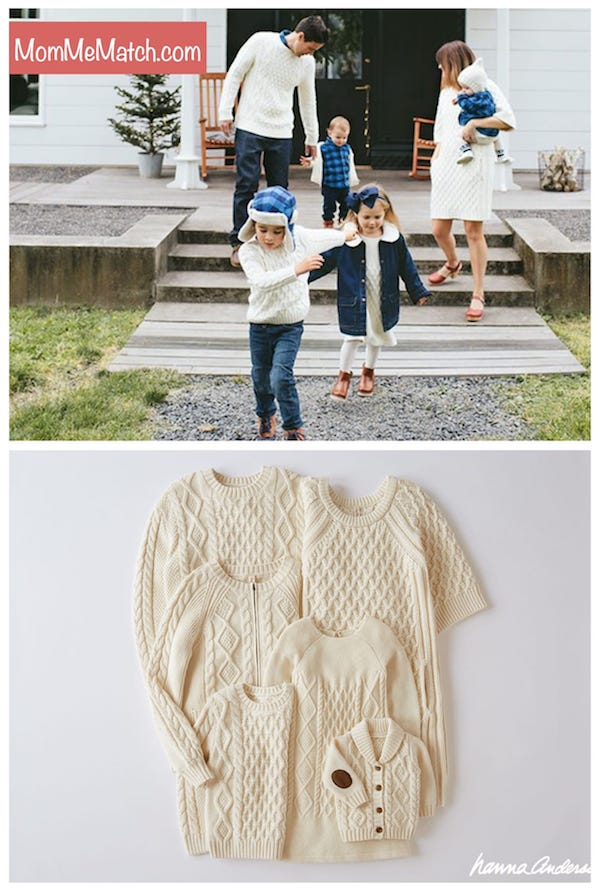 Hanna Andersson Cozy Cable Knit Matching Family Sweaters