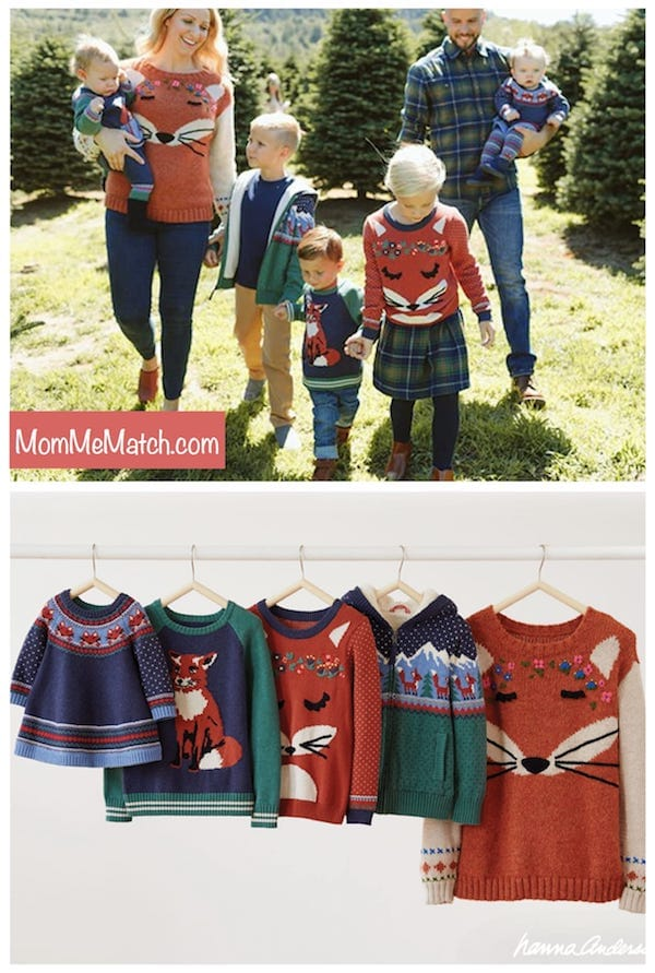 Hanna Andersson Fox Matching Family Sweaters