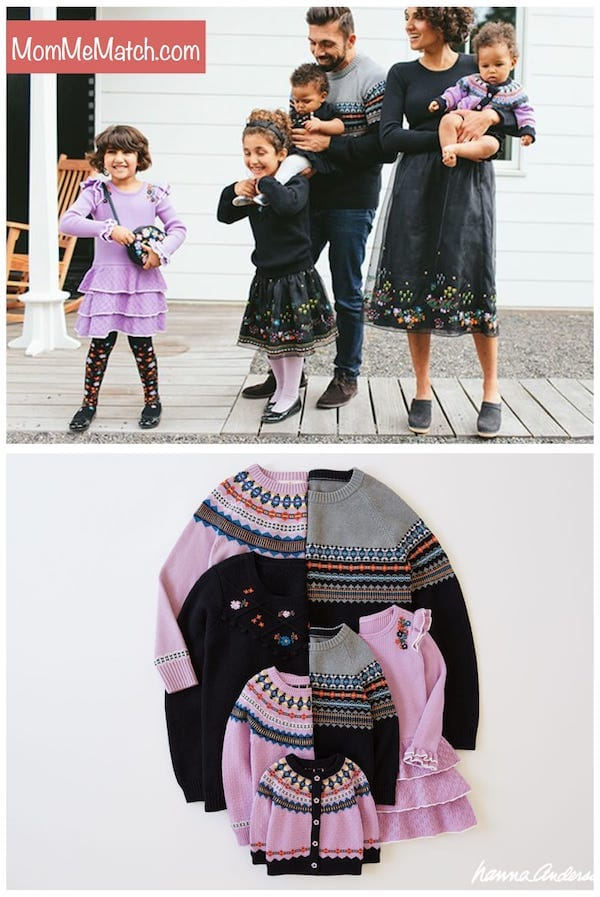 Hanna Andersson Twilight Matching Family Sweaters