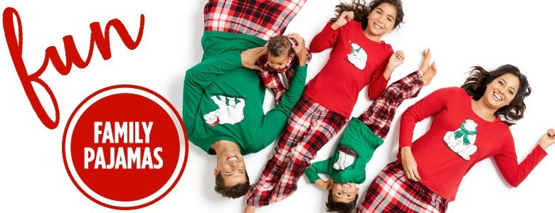jc penneys family holiday pajamas