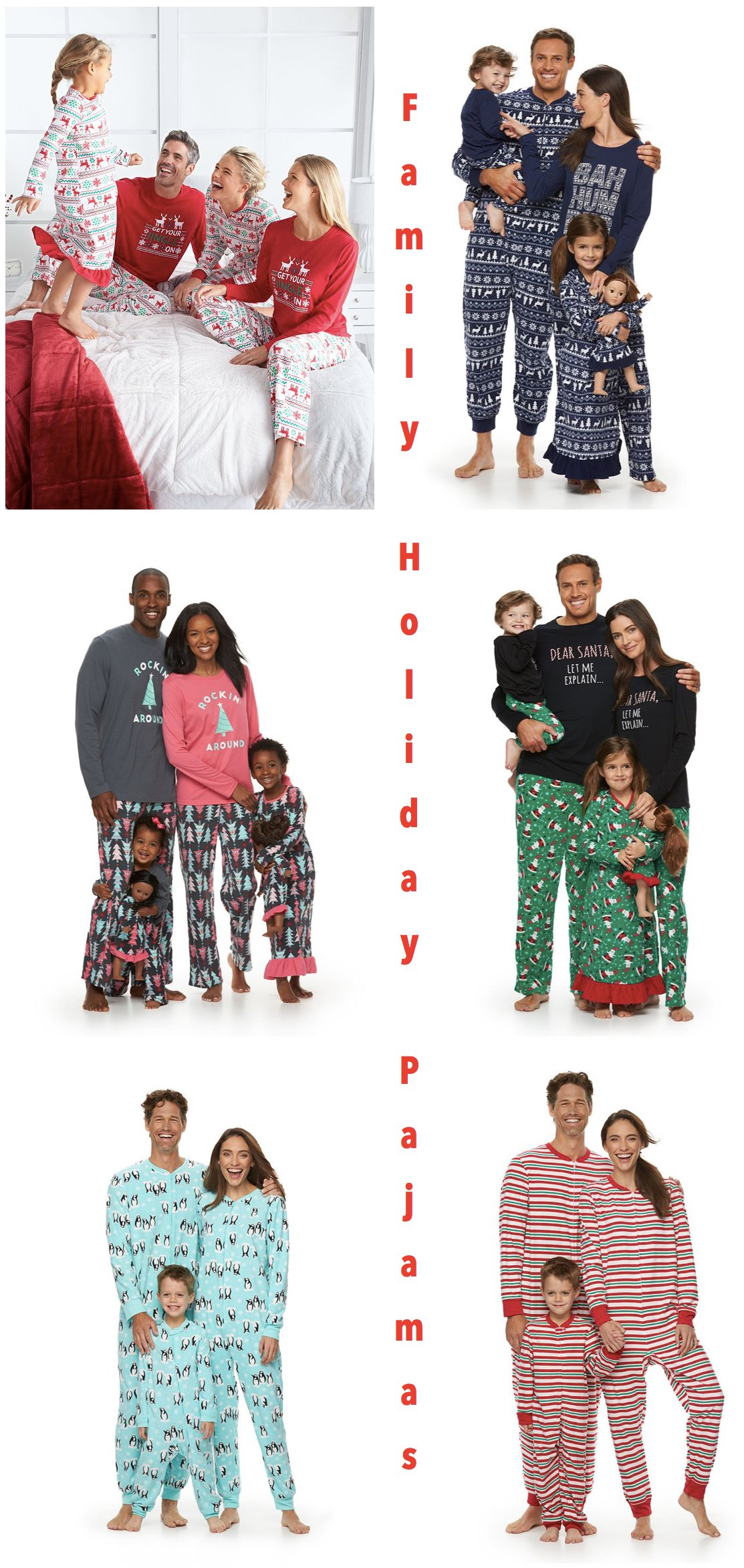 Kohl's Family Holiday Pajamas
