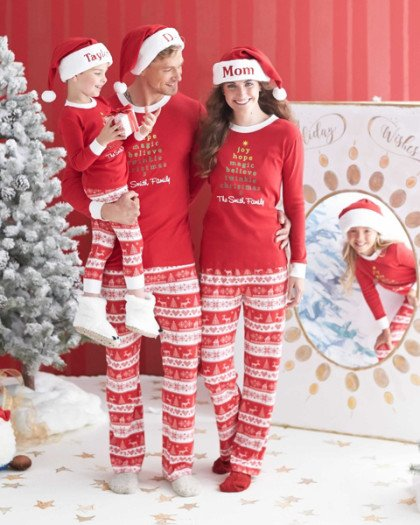 Matching Family Holiday Nordic PJs
