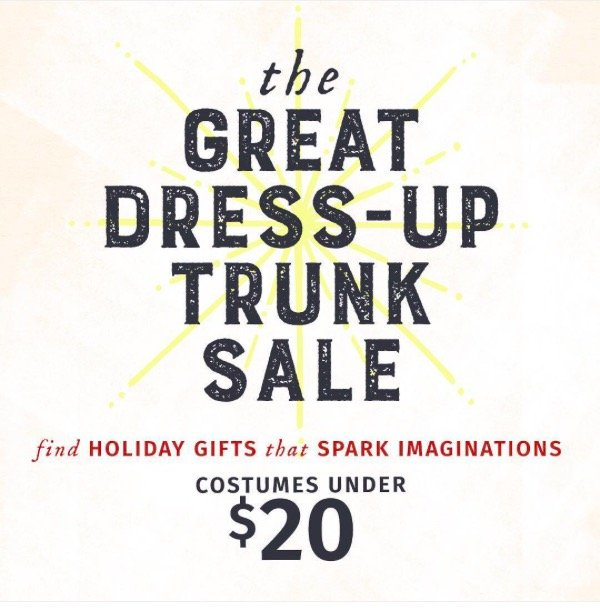 The Great Dress Up Trunk Sale