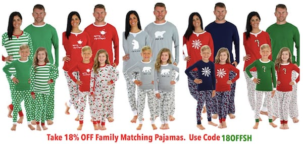 Cheap Family Matcihng Pajamas with Coupon Code 18OFFSH
