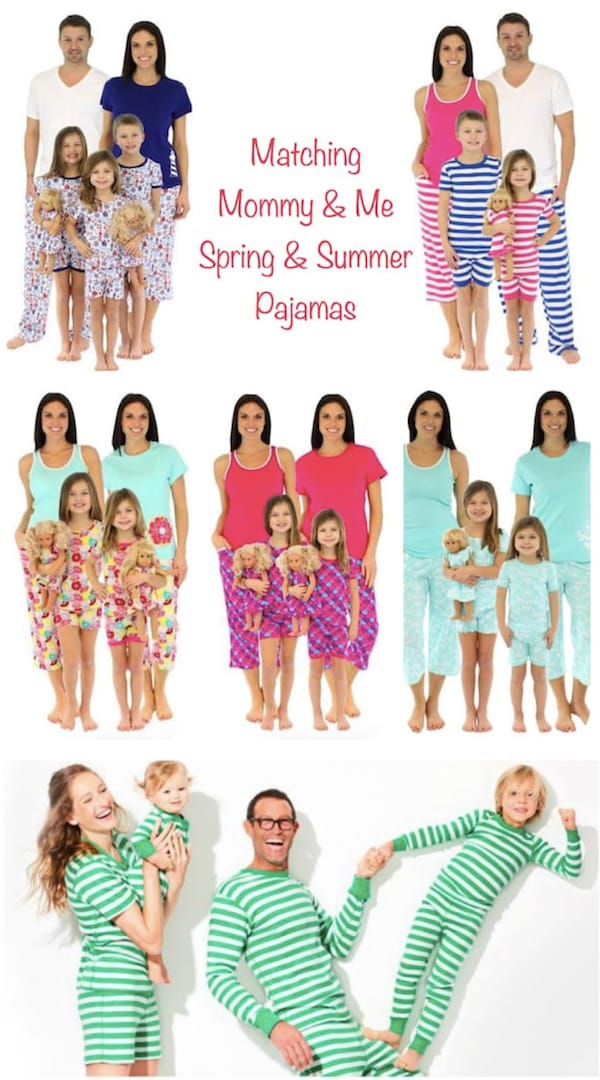 Family Matching Spring and Summer Pajamas