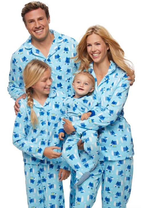 Matching Family Polar Bear Hanukkah Pajamas