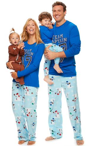 Matcing Family Football Snowmen Holiday Pajamas