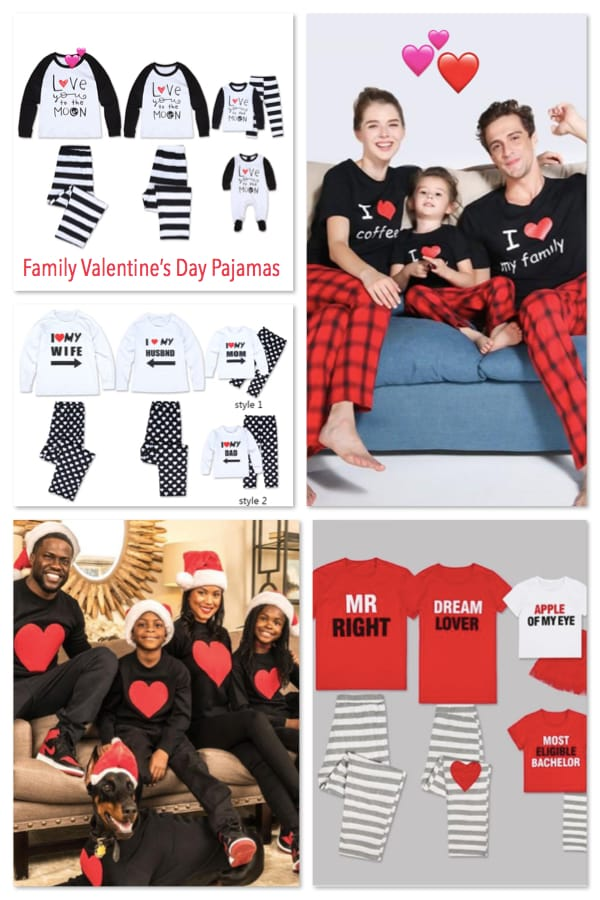 Family Valentines Day Matching Pajamas