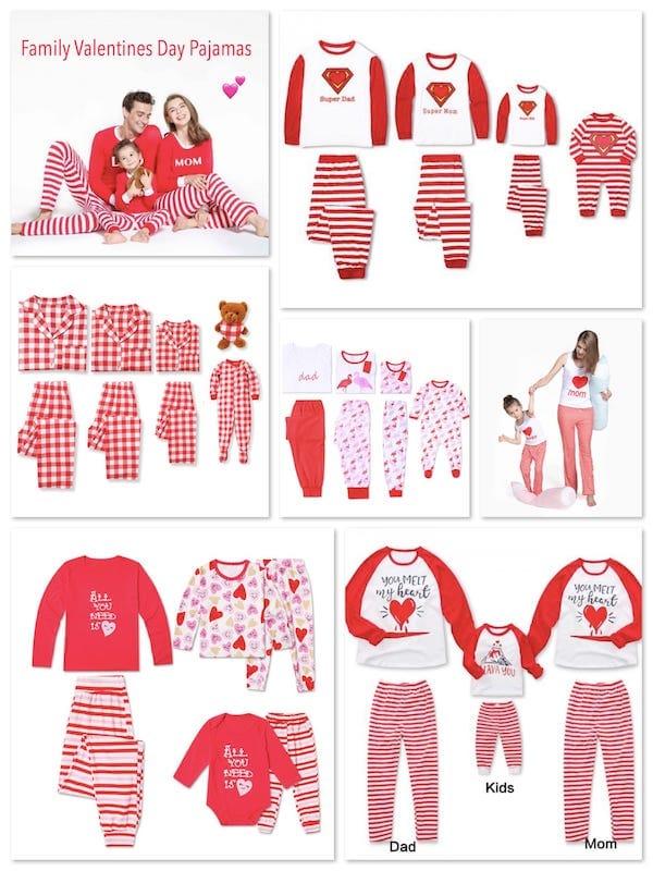 Family Valentines Pajamas