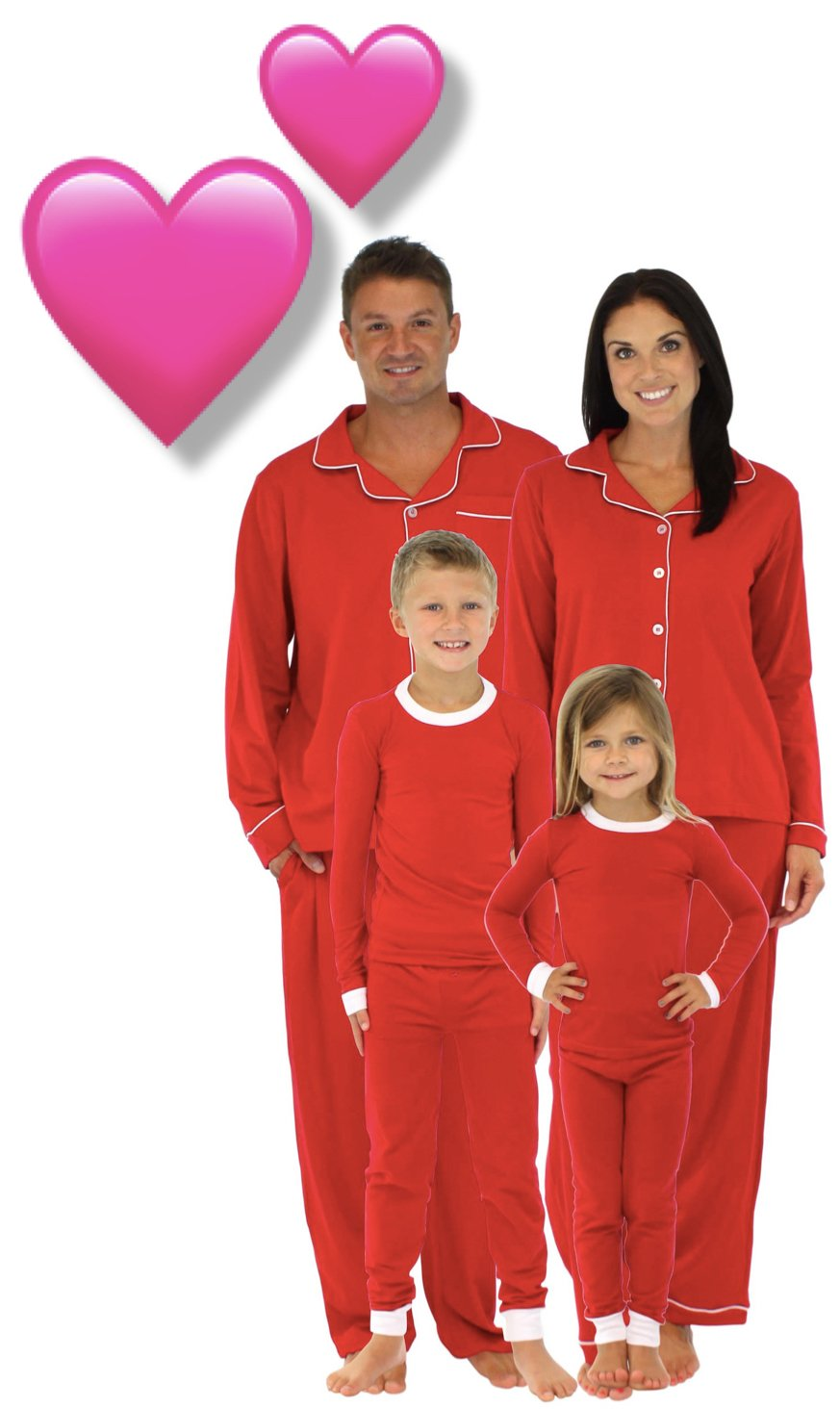 4826841929 Valentines Day Matching Mommy and Me Pajamas