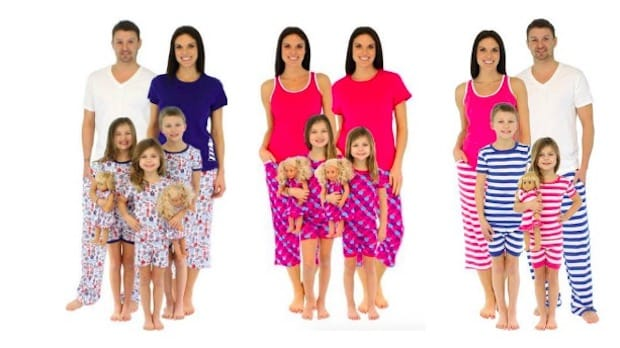 The New Summer and Spring Pajama Collection of Family Matching PJs