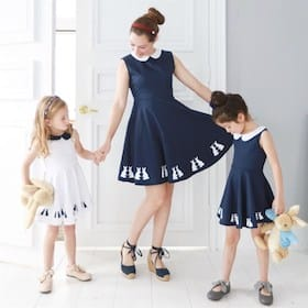 Mother & Daughter Matching Bunny Dress