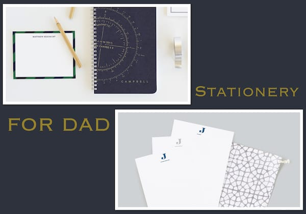 Elegant Fathers Day Gifts, Stationery for Dad
