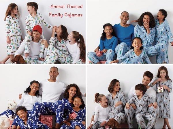 Animal Themed Matching Family Pajamas