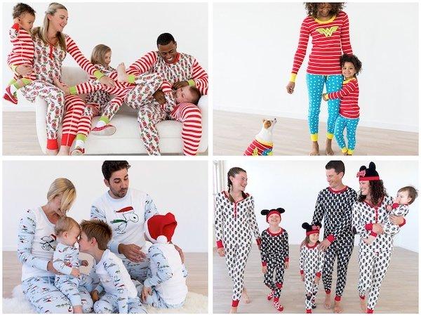 Cartoon Characters Family Matching Holiday Pajamas