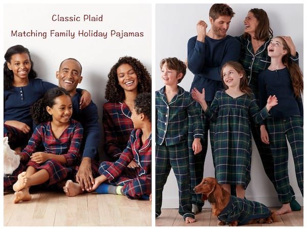 Classic Plaid Matching Family Holiday Pajamas