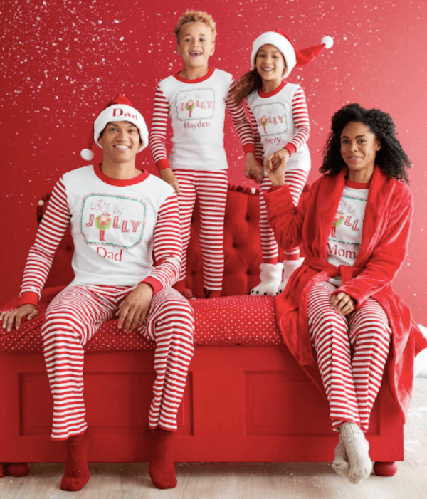 Family Matching Personalized Jolly Elf on the Shelf Pajamas