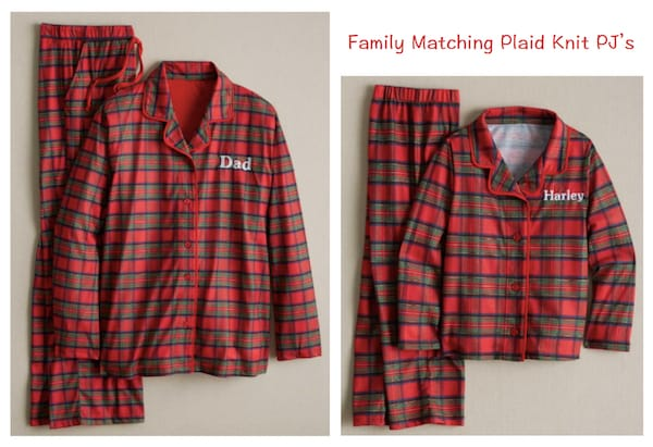 Family Matching Plaid Knit Christmas Pajamas