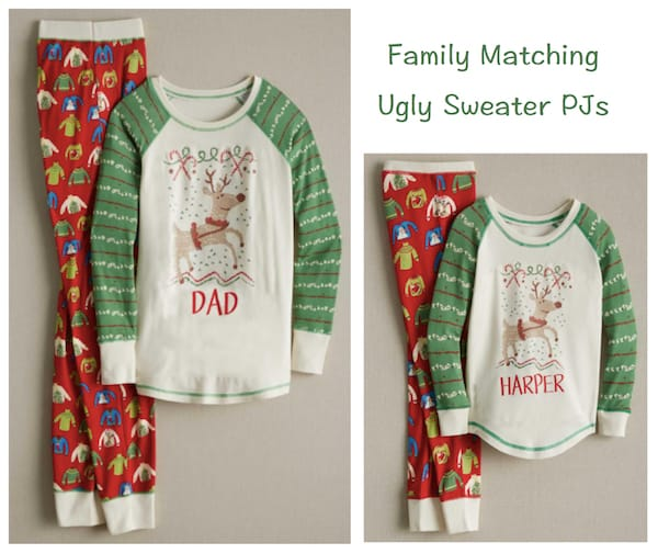Family Matching Ugly Sweater Holiday Pajamas